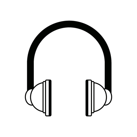 entertainment center: headphones audio equipment accessory icon vector illustration