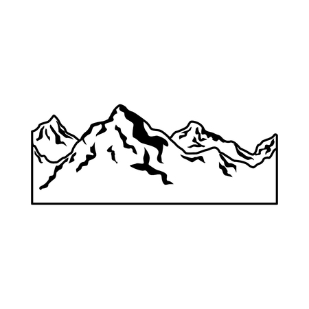 alpine mountain switzerland landscape travel image vector illustration Illustration