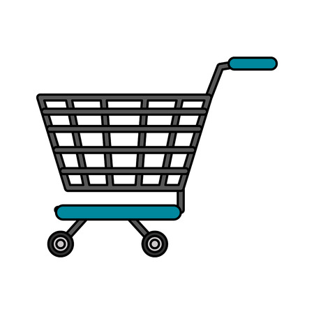 gift basket: shopping cart icon image vector illustration design Illustration