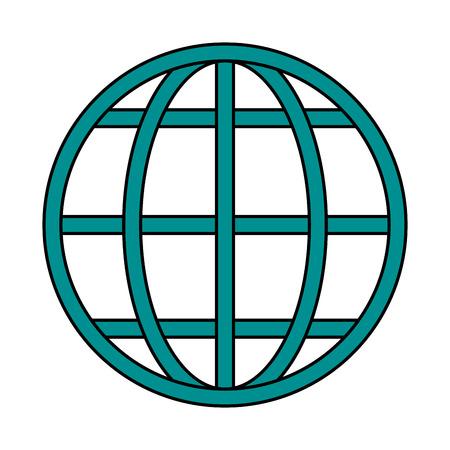 globo de la tierra imagen Diagrama del icono de ilustración vectorial de diseño Vectores