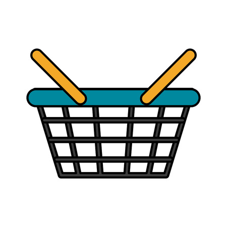 buy now: shopping basket icon image vector illustration design Illustration