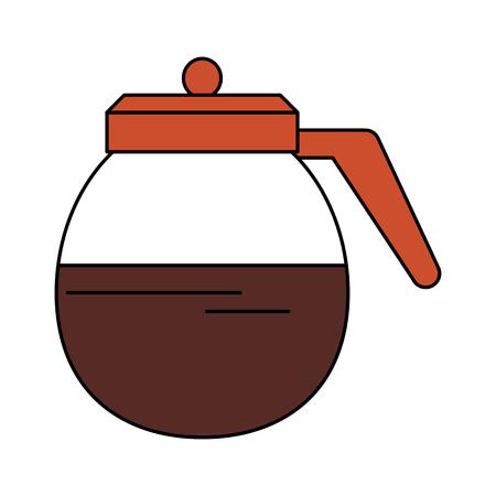 roasting: kettle coffee icon image vector illustration design Illustration