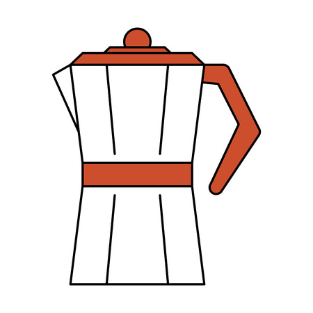 stove top coffee maker  icon image vector illustration design Illustration