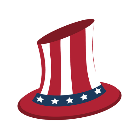 uncle sam top hat with flag united states usa icon image vector illustration design