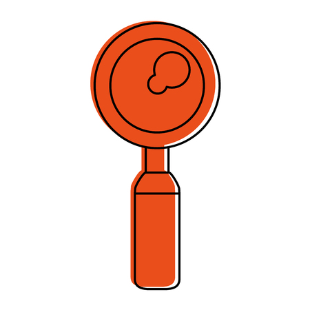 A magnifying glass icon image vector illustration design. Illustration