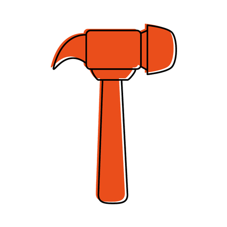 A hammer tool icon image vector illustration design.
