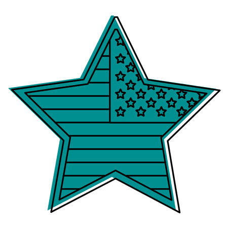 Star badge with flag united states usa icon image vector illustration design