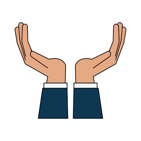 Open hands facing up icon.