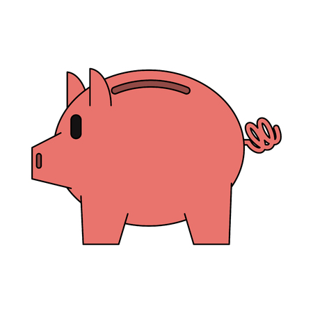 piggy bank icon image vector illustration design