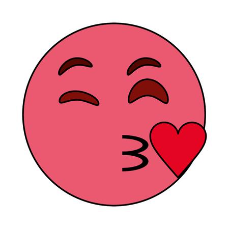 Flirty heart icon.