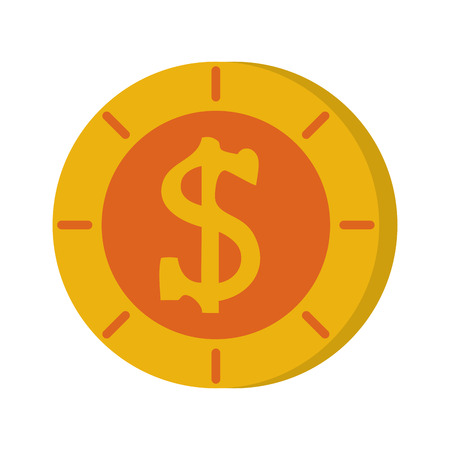 coin money icon image vector illustration design Illustration