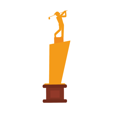 trophy golf icon image vector illustration design Illustration