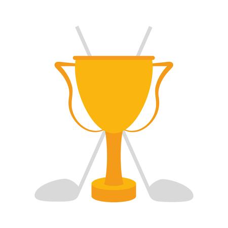 dimple: trophy golf icon image vector illustration design Illustration