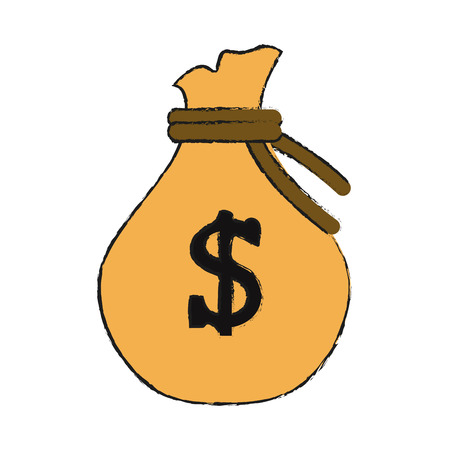 Bag of money icon image vector illustration design