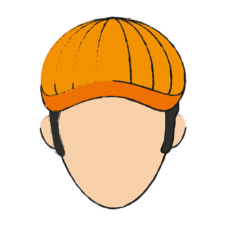 golf player avatar icon image vector illustration design