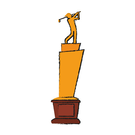 dimple: Trophy golf icon image vector illustration design