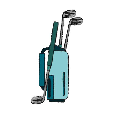 dimple: golf club bag  icon image vector illustration design Illustration