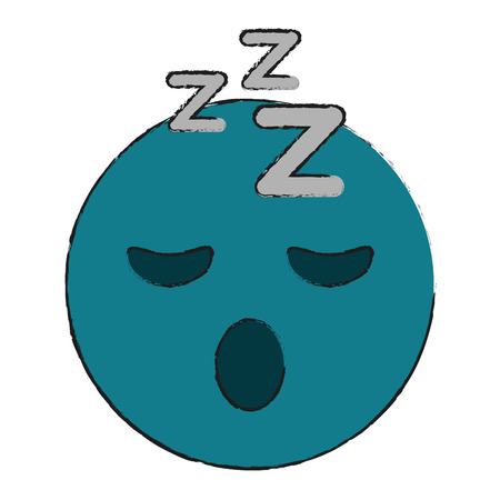 sleepy eyes zzz emoji icon image vector illustration design