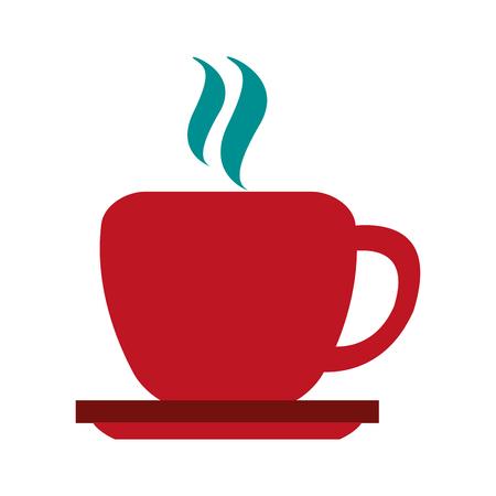 hot coffee mug icon image vector illustration design