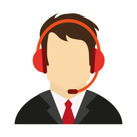 call center customer service assistant avatar icon image vector illustration design