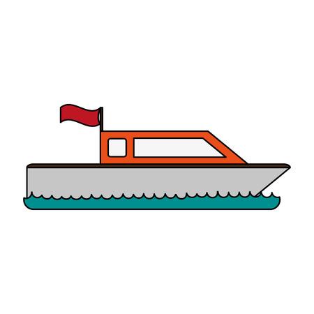 boot met vlagpictogram afbeelding vector illustratie ontwerp