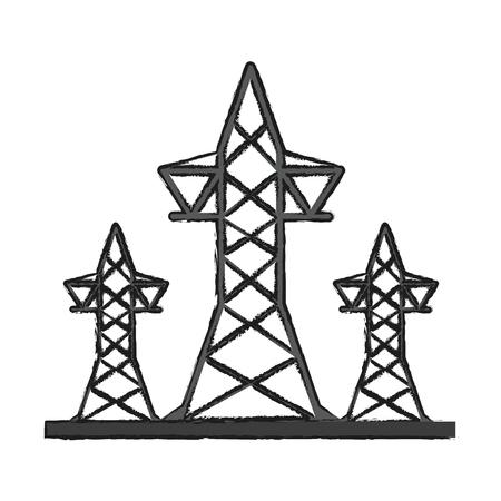 transmission towers icon image vector illustration design