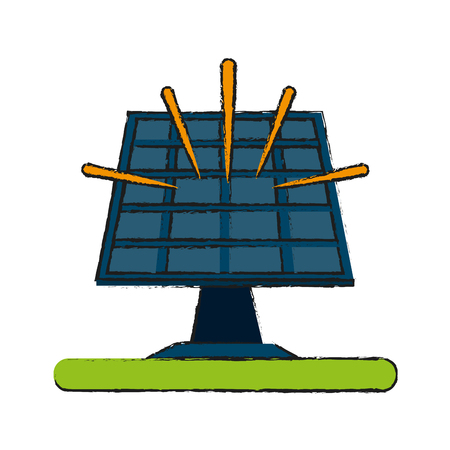 electricity meter: solar panel icon image vector illustration design Illustration
