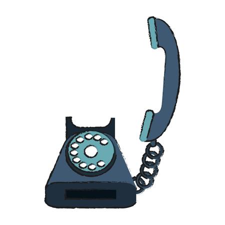 old telephone: rotary telephone icon image vector illustration design Illustration