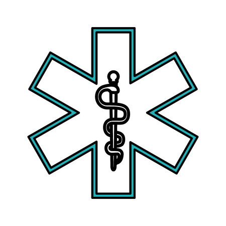 insured: asclepius rod healthcare icon image vector illustration design