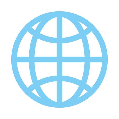 diseño de globo tierra comunicación icono diseño de ilustración vectorial vector