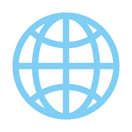 earth globe diagram communication icon image vector illustration design  Vectores