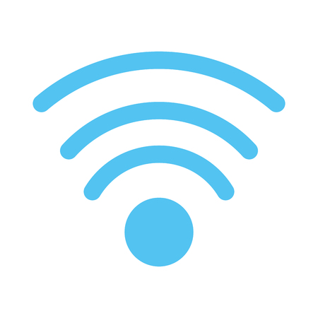 wifi signal icon image vector illustration design