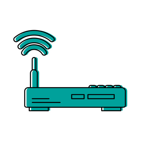 wifi router icon image vector illustration design Illustration