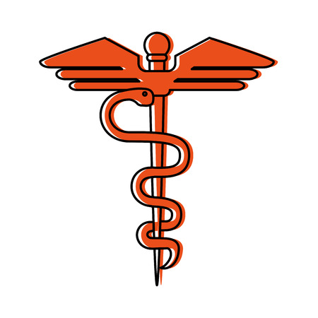 asclepius rod healthcare icon image vector illustration design