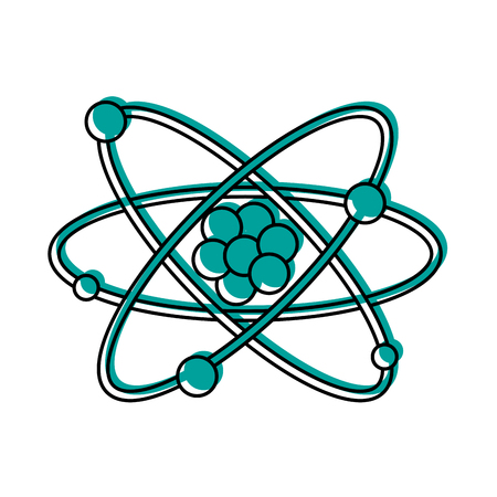 atom representation icon image vector illustration design