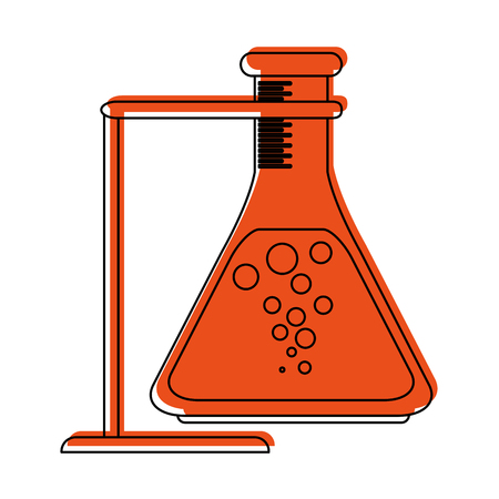 toxic substance: test tube or flask icon image vector illustration design