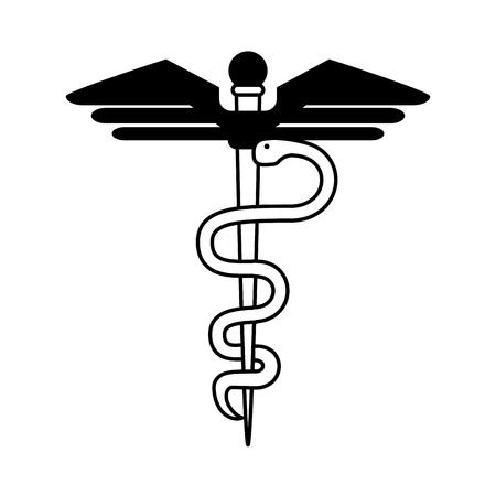 lifeline: asclepius rod healthcare icon image vector illustration design  Illustration