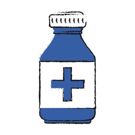 Colorful medication doodle over white background vector illustration