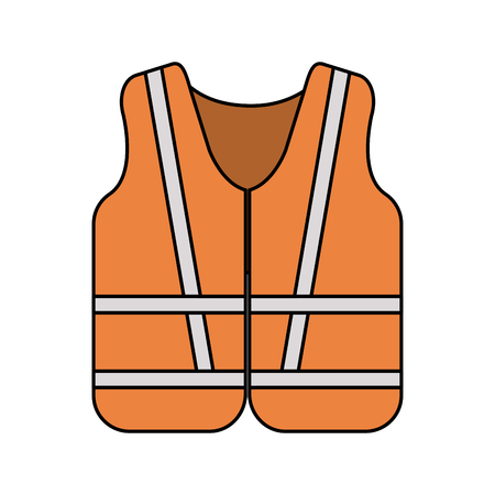 reflective vest industrial safety icon image vector illustration design Illustration