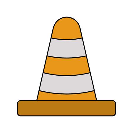 traffic cone icon image vector illustration design Ilustração