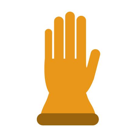 single glove icon image vector illustration design