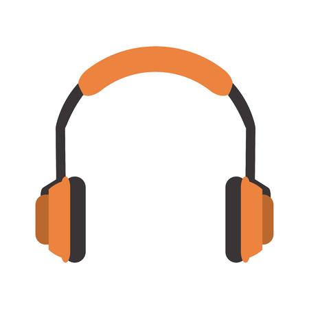 portable audio: isolated orange  headphones icon image vector illustration design