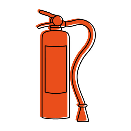 fire extinguisher with blank label icon image vector illustration design  orange color Illustration