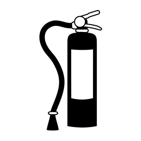 fire extinguisher with blank label icon image vector illustration design