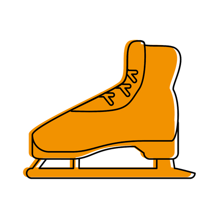 ice skate icon image vector illustration design  yellow color
