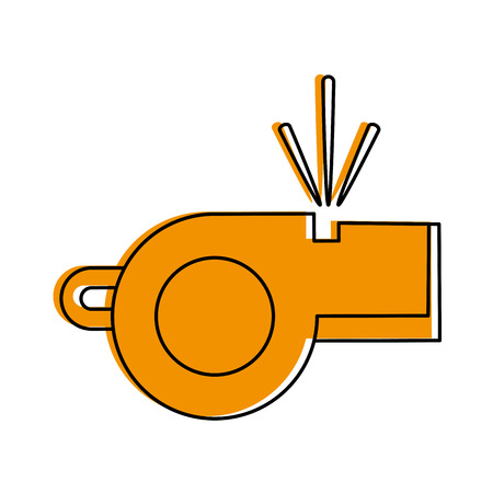 blow whistle icon image vector illustration design  yellow color
