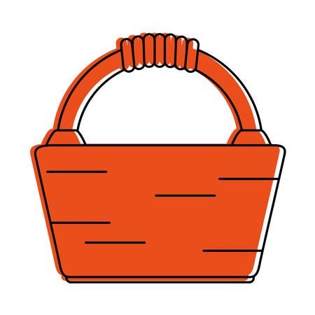 picnic basket icon image vector illustration design  orange color