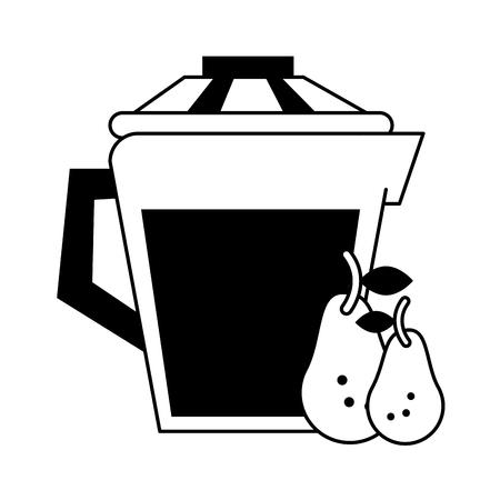 jug with beverage icon image vector illustration design Illustration