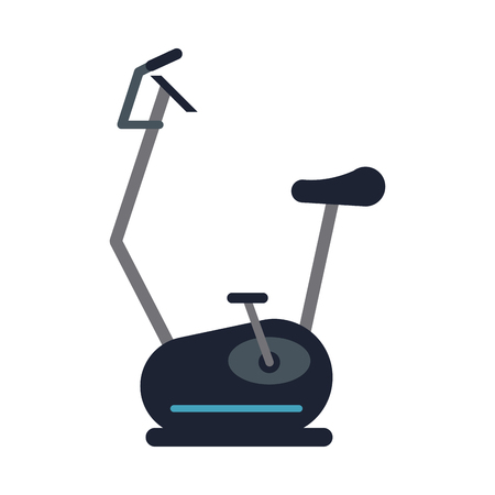 spinning or stationary bike fitness icon image vector illustration design