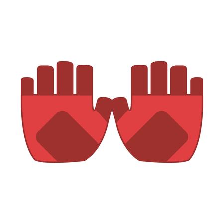 fingerless gloves icon image vector illustration design